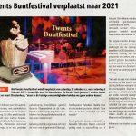 Buutfestival 2020 verplaatst